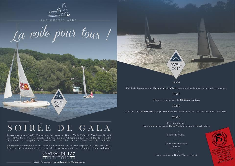 Soir�e de Gala le 25/04 au Chateau du Lac