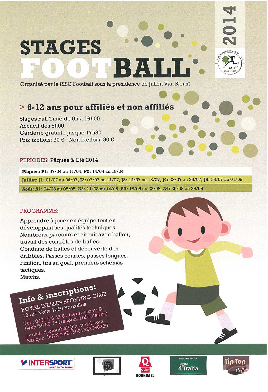 Stages Football avec le RISC