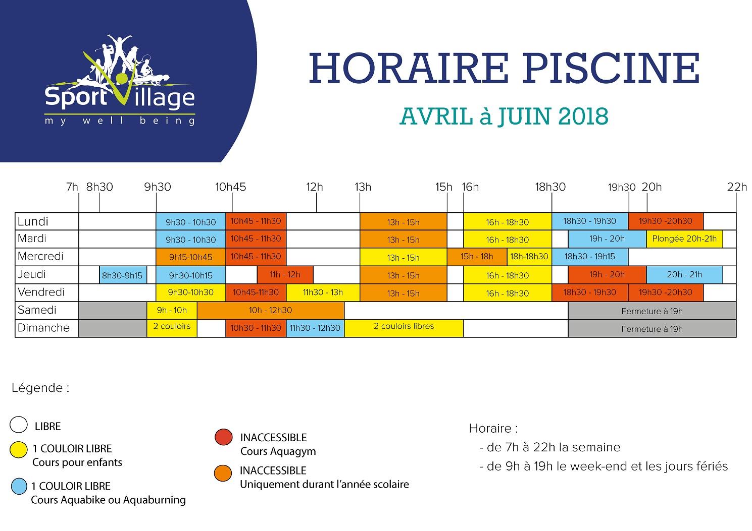 Sport village content - Horaire piscine longjumeau ...