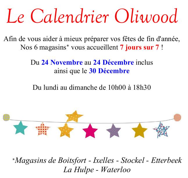 Horaire calendrier Atelier de Gepetto